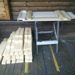 the batch of wood cut